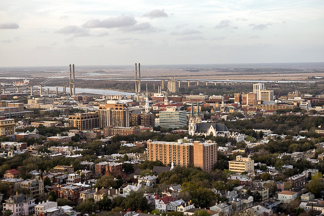 Savannah from the Air with Old City Helicopters