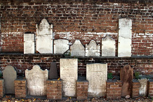 Tomb Stone Wall SAvannah
