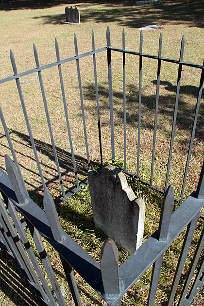 fenced Grave